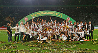 19.05.2018, Football DFB-Pokal Finale 2018, FC Bayern Muenchen - Eintracht Frankfurt, Olympiastadium in Berlin. winner ehrung , Eintracht Frankfurt gewinnt den DFB Pokal *** Local Caption *** © pixathlon<br /> <br /> Contact: +49-40-22 63 02 60 , info@pixathlon.de