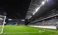 illustration picture showing the main stand in the stadium during the Womens International Friendly game between France and Switzerland at Stade Saint-Symphorien in Longeville-lès-Metz, France.