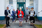 Minister Heather Humphreys at the Cable Station Building on Valentia Island on Tuesday pictured front l-r; Cathaoirleach of KCC Jimmy Moloney, Minister Heather Humphreys, Minister Norma Foley, back l-r; Michael Lyne(Chairman VIDCo), Moira Murrell Chief Executive KCC & David Flannery(Scott Tallon Walker Architects).
