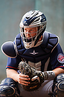 Minnesota Twins catcher Wynston Sawyer (21) in the bullpen during a Spring Training practice on February 21, 2018 at Hammond Stadium at CenturyLink Sports Complex in Fort Myers, Florida.  (Mike Janes/Four Seam Images)