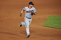Minnesota Twins Brian Dozier rounds the bases after hitting a home run during the MLB All-Star Game on July 14, 2015 at Great American Ball Park in Cincinnati, Ohio.  (Mike Janes/Four Seam Images)