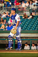 Stuart Turner (30) of the Chattanooga Lookouts looks on during a game between the Jackson Generals and Chattanooga Lookouts at AT&T Field on May 7, 2015 in Chattanooga, Tennessee. (Brace Hemmelgarn/Four Seam Images)