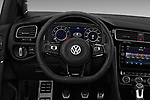 Car pictures of steering wheel view of a 2019 Volkswagen Golf R 5 Door Hatchback Steering Wheel