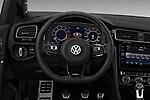 Car pictures of steering wheel view of a 2019 Volkswagen Golf R 5 Door Hatchback Steering Wheel