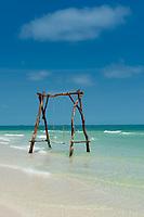 Swings in the sea, Bai Sao Beach, Phu Quoc, Vietnam