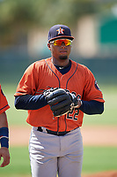 GCL Astros Yorbin Ceuta (22) during a Gulf Coast League game against the GCL Marlins on August 8, 2019 at the Roger Dean Chevrolet Stadium Complex in Jupiter, Florida.  GCL Astros defeated GCL Marlins 4-2.  (Mike Janes/Four Seam Images)