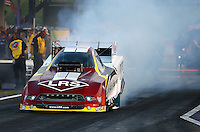 Apr 25, 2014; Baytown, TX, USA; NHRA funny car driver Tim Wilkerson during qualifying for the Spring Nationals at Royal Purple Raceway. Mandatory Credit: Mark J. Rebilas-