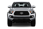 Car photography straight front view of a 2018 Toyota Tacoma TRD Off Road Double Cab 4 Door Pick Up