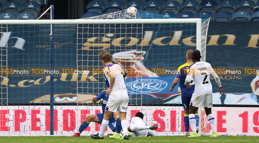 Leon Clarke of Shrewsbury Town goal during AFC Wimbledon vs Shrewsbury Town, Sky Bet EFL League 1 Football at The Kiyan Prince Foundation Stadium on 17th October 2020