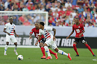 CLEVELAND, OHIO - JUNE 22: Leston Paul #23, Weston McKennie #8 during a 2019 CONCACAF Gold Cup group D match between the United States and Trinidad & Tobago at FirstEnergy Stadium on June 22, 2019 in Cleveland, Ohio.