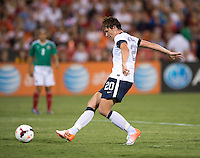 Abby Wambach. The USWNT defeated Mexico, 7-0, during an international friendly at RFK Stadium in Washington, DC.  The USWNT defeated Mexico, 7-0.