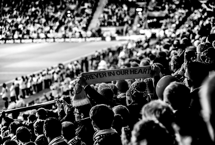 Leicester City's Fans at the start of todays match<br /> <br /> Photographer Rachel Holborn/CameraSport<br /> <br /> The Premier League - Saturday 10th November 2018 - Leicester City v Burnley - King Power Stadium - Leicester<br /> <br /> World Copyright © 2018 CameraSport. All rights reserved. 43 Linden Ave. Countesthorpe. Leicester. England. LE8 5PG - Tel: +44 (0) 116 277 4147 - admin@camerasport.com - www.camerasport.com