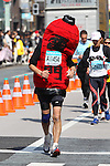Feb. 27, 2011 - Tokyo, Japan - A man dressed in a Japanese lantern costume takes part in the Tokyo Marathon. (Photo by Daiju Kitamura/AFLO SPORT)