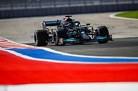 24th September 2021; Sochi, Russia; F1 Grand Prix of Russia free practise sessions;  44 HAMILTON Lewis gbr, Mercedes AMG F1 GP W12 E Performance, action during the Formula 1 VTB Russian Grand Prix