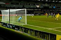 2nd February 2021; St Mirren Park, Paisley, Renfrewshire, Scotland; Scottish Premiership Football, St Mirren versus Hibernian; Martin Boyle of Hibernian scores second goal from the penalty spot