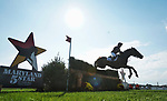 October 16, 2021: Zoe Crawford (USA), aboard K.E.C. Zara, competes during the Cross Country Test at the 5* level during the Maryland Five-Star at the Fair Hill Special Event Zone in Fair Hill, Maryland on October 16, 2021. Scott Serio/Eclipse Sportswire/CSM