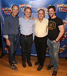 James Hindman, Tom Southrada, Adam Heller and Christian Borle  attends the cast photo call for 'Popcorn Falls' at the Jerry Orbach Theatre on September 6, 2018 in New York City.