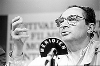 August 25, 1987 File Photo - Montreal (Qc) Canada - French <br />  filmmaker Jean-Charles Tacchella  at 1987 Montreal  World Film Festival.<br /> <br /> Jean-Charles Tacchella (born September 23, 1925) is a French screenwriter and film director. He was nominated for an Academy Award for Best Original Screenplay for his film Cousin Cousine (1975), which was also nominated for the Academy Award for Best Foreign Language Film] and which was later (1989) remade in a US version starring Ted Danson and titled Cousins.
