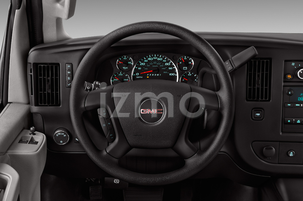 Car pictures of steering wheel view of a 2018 GMC Savana-Cargo Work-Van-2500 4 Door Cargo Van Steering Wheel