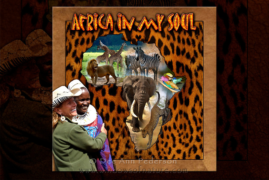 """Hardcover<br /> Hand Bound<br /> 74 Flat Bound Pages<br /> Satin Finish Heavy Weight Paper<br /> 12"""" x 12""""<br /> Proudly Printed in The USA<br /> $225.00<br /> (All Profits Go to Projects for The Maasai Village Dee Ann has worked with for over 10 years)"""