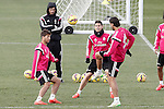 Real Madrid's Lucas Silva, James Rodriguez and Sami Khedira during training session.January 30,2015.(ALTERPHOTOS/Acero)