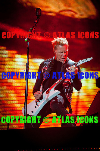 James Hetfield; METALLICA; Live: 2012<br /> Photo Credit: JOSH WITHERS/ATLASICONS.COM