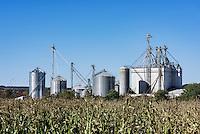 Modern silo configuration, Waterville, New York, USA