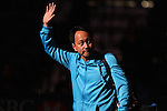 USA's Michael Chang walks onto the court before the HSBC Tennis Cup series at First Niagara Center in Buffalo, NY on October 22, 2011