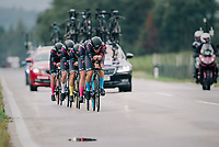 Team Canyon-Sram speeding towards victory<br /> <br /> UCI WOMEN'S TEAM TIME TRIAL<br /> Ötztal to Innsbruck: 54.5 km<br /> <br /> UCI 2018 Road World Championships<br /> Innsbruck - Tirol / Austria