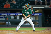 Randy Batista (2) of the Miami Hurricanes at bat against the North Carolina Tar Heels in the second semifinal of the 2017 ACC Baseball Championship at Louisville Slugger Field on May 27, 2017 in Louisville, Kentucky. The Tar Heels defeated the Hurricanes 12-4. (Brian Westerholt/Four Seam Images)