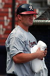 Stubby Clapp of the Richmond Braves, an Atlanta Braves Class AAA farm team, taken August 27, 2003, at The Diamond in Richmond, Va. Copyright (c) 2003 Tom Priddy. Not to be used in any way without permission. For information contact tom@tompriddy.com.