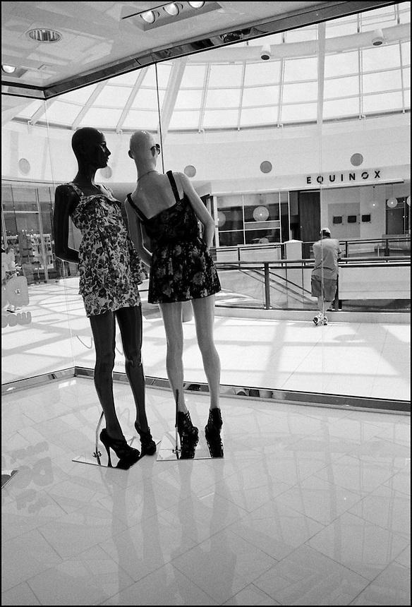 """Aventura mall<br /> From """"Miami in Black and White"""" series. Aventura, FL, 2009"""