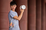 H'Ng Thean Leong poses for a portrait ahead the Red Bull PAO 2015 at the National Taiwan Science Education Centre in Taipei, Taiwan. Photo by Aitor Alcalde / Power Sport Images