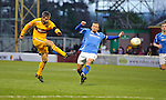 Motherwell v St Johnstone...28.01.12  .Keith Lasley scores Motherwell's third goal.Picture by Graeme Hart..Copyright Perthshire Picture Agency.Tel: 01738 623350  Mobile: 07990 594431