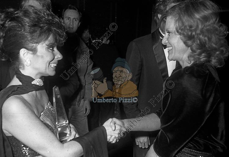 PATRIZIA REGGIANI GUCCI CON MARINA CICOGNA<br /> PREMIO THE BEST RAINBOW ROOM ROCKFELLER CENTER NEW YORK 1982