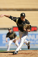February 28 2010: Jack Armstrong of Vanderbilt  during game against Oklahoma State at Dodger Stadium in Los Angeles,CA.  Photo by Larry Goren/Four Seam Images
