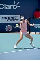 MIAMI GARDENS, FLORIDA - MARCH 26: Naomi Osaka of Japan defeats Ajla Tomljanović of Australia on Day 5 of the 2021 Miami Open on March 26, 2021 in Miami Gardens, Florida<br /> People:  Ajla Tomljanovic <br /> CAP/MPI122<br /> ©MPI122/Capital Pictures
