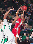 Louisiana Lafayette Ragin' Cajuns guard Brooklyn Arceneaux (2) in action during the game between the Louisiana Lafayette Ragin' Cajuns and the University of North Texas Mean Green at the North Texas Coliseum,the Super Pit, in Denton, Texas. UNT defeats Louisiana Lafayette 78 to 40....