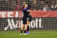 Sandy, UT - October 19, 2016: The USWNT take a 3-0 lead over Switzerland with Christen Press adding a goal in second half action during an international friendly game at Rio Tinto Stadium.
