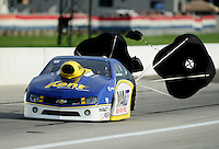 Aug. 31, 2012; Claremont, IN, USA: NHRA pro stock driver Rodger Brogdon during qualifying for the US Nationals at Lucas Oil Raceway. Mandatory Credit: Mark J. Rebilas-