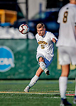 26 October 2019: University of Vermont Catamount Midfielder Daði Bærings Halldórsson, a Junior from Reykjavik, Iceland, in second half action against the University of Massachusetts Lowell River Hawks at Virtue Field in Burlington, Vermont. The Catamounts rallied to defeat the River Hawks 2-1, propelling the Cats to the America East Division 1 conference playoffs. Mandatory Credit: Ed Wolfstein Photo *** RAW (NEF) Image File Available ***