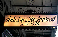 Antoine's Restaurant in the French Quarter, city of New Orleans, Louisiana, NOLA, USA