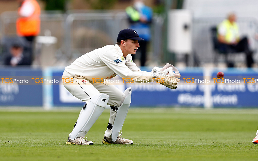 Kent debutant Harry Houillon fields during Kent CCC vs Sussex CCC, LV Insurance County Championship Group 3 Cricket at The Spitfire Ground on 13th July 2021