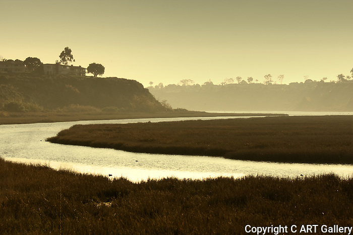 Evening Glow in the Back Bay, CA.