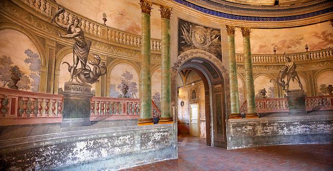Hallway entrance Interior of Baroque Villa Palagonia - Baghera Sicily. Pictures, photos, images & fotos