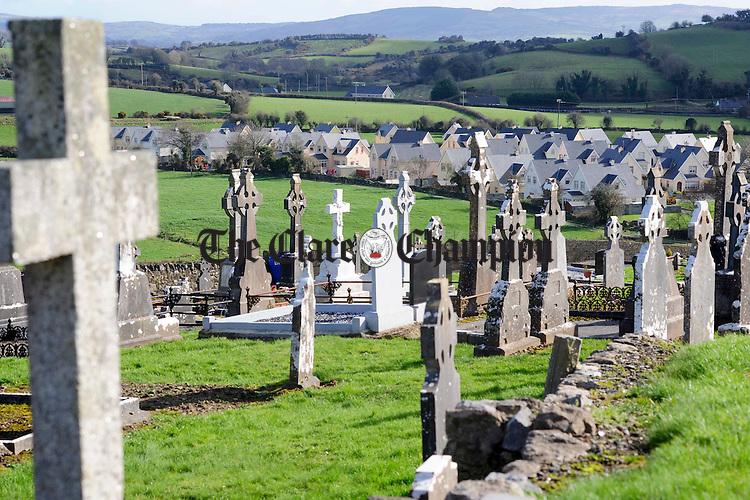 Church ruins and graveyard on Tulla hill.Pic Arthur Ellis.