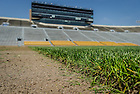May 20, 2014; Removal of the natural grass turf in Notre Dame Stadium, summer 2014.<br /> <br /> Photo by Matt Cashore/University of Notre Dame