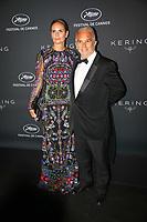 Alain Terzian (L) and Brune de Margerie en photocall avant la soiréee Kering Women In Motion Awards lors du soixante-dixième (70ème) Festival du Film à Cannes, Place de la Castre, Cannes, Sud de la France, dimanche 21 mai 2017. Philippe FARJON / VISUAL Press Agency