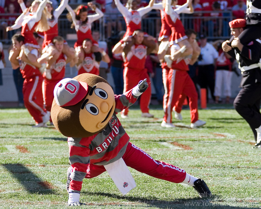 07 October 2006: Ohio State mascot Brutus Buckeye..The Ohio State Buckeyes defeated the Bowling Green Falcons 35-7 on October 7, 2006 at Ohio Stadium, Columbus, Ohio.