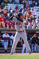 Quad Cities River Bandits infielder Randy Cesar (30) at bat during a Midwest League game against the Wisconsin Timber Rattlers on April 8, 2017 at Fox Cities Stadium in Appleton, Wisconsin.  Wisconsin defeated Quad Cities 3-2. (Brad Krause/Four Seam Images)